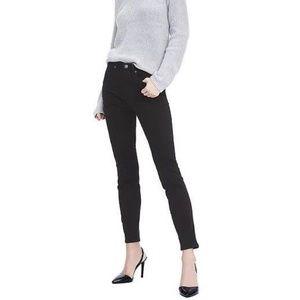 NWT Banana Rep High Rise Skinny Jeans 31L Black 49